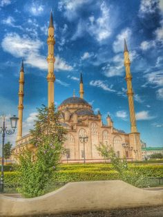 Mosque in Grozny Chechnya  Photo by: +Valid Temiraliev