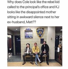 Omg so true😂😂😂😂 Why is Kj sitting like a girl? 😂😂😂😂😂😂<<< I'm getting vibes of Katniss, Effie and Hamich from Hunger Games lol😂 Memes Riverdale, Bughead Riverdale, Riverdale Funny, Riverdale Poster, Riverdale Betty, Stupid Funny Memes, Funny Posts, Funny Quotes, It's Funny