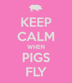 KEEP CALM WHEN PIGS FLY