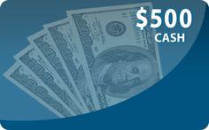 $500.00 Cash!   PCH.com