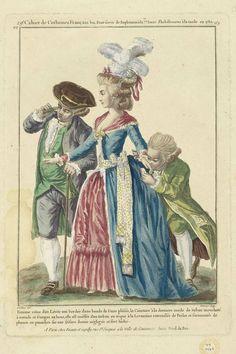 """""""Femme vétue d'un Lévite ..."""", Galerie des Modes, 1780"""