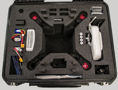 Caisses Pelican conçues pour accueillir un drône. Toutes grandeurs disponibles - Plus bas prix au Canada / Pelican cases specifically designed to carry and protect a drone - All sizes available - Lowest prices in Canada