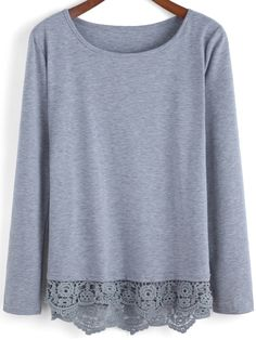 Shop Grey Round Neck Peplum Hem T-Shirt online. SheIn offers Grey Round Neck Peplum Hem T-Shirt & more to fit your fashionable needs. Pretty Outfits, Cute Outfits, Cycling T Shirts, Tee T Shirt, Moda Chic, Casual Chic Style, Cute Shirts, Refashion, Stitch Fix