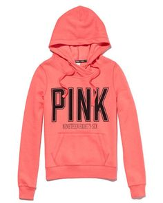 Funnel neck pullover hoodie PINK