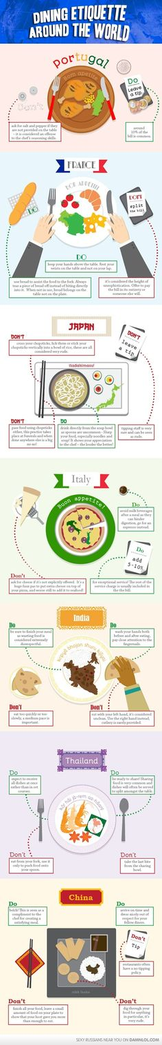 Dining Etiquette Around The World - Damn! LOL