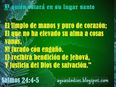 Compartamos la Palabra de Dios: Y quién estará en su lugar santo