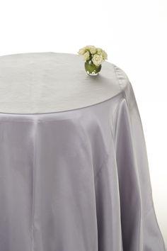 Silver satin round table cloths #table linen hire #silver satin tablecloths  www.decorit.com.au