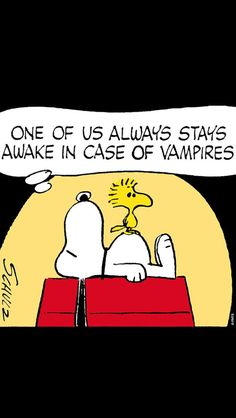 In case of vampires tell your friend to stay awake