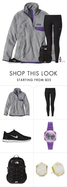 """""""can't believe trump won"""" by secfashion13 ❤ liked on Polyvore featuring Patagonia, NIKE, Armitron, The North Face and Kendra Scott"""