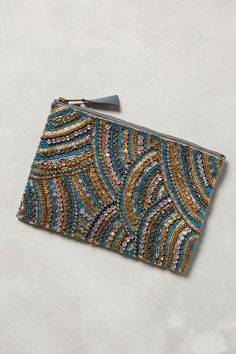 Sea Fan Beaded Pouch - anthropologie.com