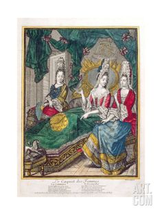 Women Chatting or the New Mother, Late 17th Century Giclee Print by Nicolas Arnoult at Art.com