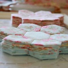 Fabric cup coasters. Shouldn't you use cork instead of cardboard? I would.