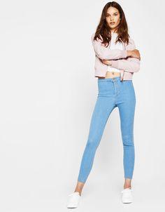 c8b9255956 Denim jeggings - Trousers - Bershka United Kingdom Jeans