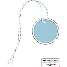 Martha Stewart Home Office™ with Avery™ Metal-Rim Tags, Blue