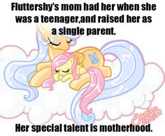 my little pony headcanon | fluttershy #headcanon #my little pony #background pony