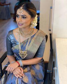 Indian Bridal Wear, Saree Look, South Indian Bride, Bridal Looks, Bridal Makeup, Marriage, Sari, Brides, How To Wear