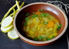 QulinarnePasje: Zupa z fasolką szparagową i cukinią - idealna na jesienne smutki!