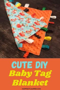 Looking for the perfect baby shower gift? Why not make it? This easy DIY Baby Tag Blanket is quick and simple to make and will be a hit! I love sewing projects that are useful and practical. This baby tag blanket is both. It is easy to add textures and colors with fabric and ribbons you have around. This is a great project for beginners, too! Easy sewing project. Sewing Baby Blanket. DIY Baby Tag Blanket. Baby Sewing Tutorials, Baby Sewing Projects, Dress Tutorials, Dress Sewing Patterns, Skirt Patterns, Coat Patterns, Blouse Patterns, Tag Blankets For Babies, Smocking Tutorial