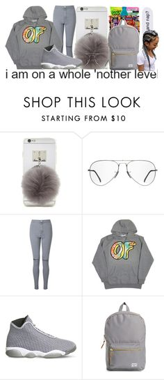 """""""Rule number 1: never trust no hoe- Lil Uzi Vert💪👌"""" by jonesja5002 ❤ liked on Polyvore featuring Forever 21, Ray-Ban, Miss Selfridge, NIKE and Herschel Supply Co."""