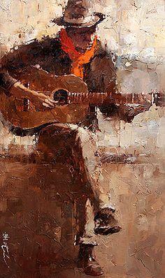 "◤mural◥ - Andre Kohn ~ "" The Spanish Guitar "" Music Painting, Painting & Drawing, Spanish Art, Guitar Art, Art Abstrait, Painting Inspiration, Illustration, Art Photography, Art Gallery"