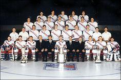 1994 New York Rangers - Stanley Cup Champions Rangers Team, Rangers Hockey, New York Rangers, Team Pictures, Team Photos, Adam Graves, Brian Leetch, Mark Messier, Hockey Rules