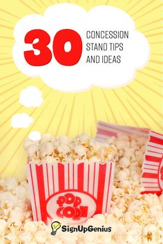 30 concession stand tips and ideas to help raise money for your sports team or group.