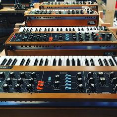 BIG NEWS!!!!! How can there be so many Mini Moogs at Moogfest......surely they are not going to start making them again. Exactly as before.....surely???!!!!!! #minimoog #moogfest #typed #synth #synths #moog #synthesizer #analog #gearporn #rerelease #timetravel #synthheaven #numan #bobmoog