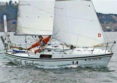 His Cal 20 sailboat...beautiful in every way.