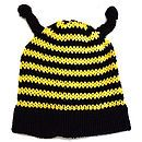 Organic Cotton Bumble Bee Baby Hat
