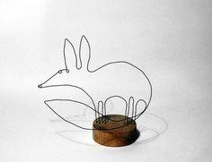 wire fox sculpture: