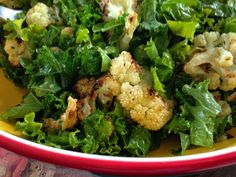Kale & Roasted Cauliflower Salad from Broccoli, Love and Dark Chocolate. Thanks, Recipes 4 Every Kitchen!