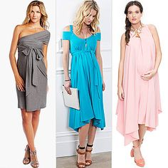 Maternity Dresses For Baby Showers. Love the blue and pink ones