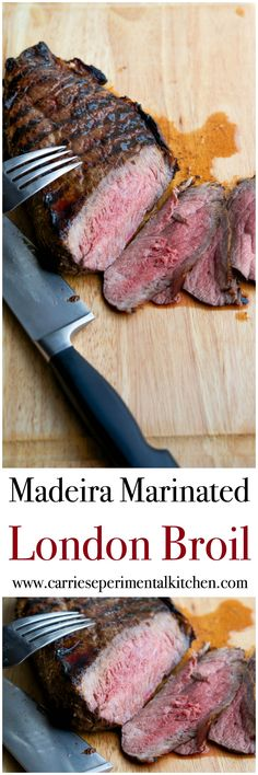 London Broil marinated in Madeira wine, extra virgin olive oil, fresh ...