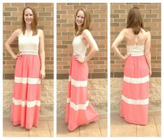 This crochet embellished dress is amazing! Perfect summer maxi dress! Available at Apricot Lane Center Valley