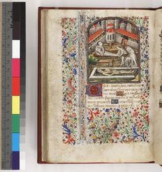 Philadelphia, Free Library of Philadelphia, Rare Book Department,  Lewis E 092  - France - Paris (?) 1440 - 1460  - f. 90v   Burial of the Dead