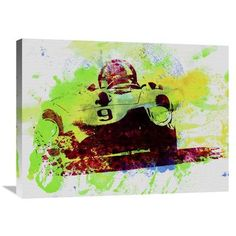 Naxart 'Classic Ferrari on Race Track' Painting Print on Wrapped Canvas Size: