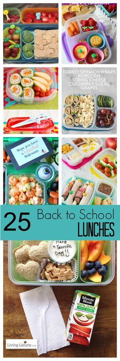 25 Back to School Lunch Box Ideas Kids Will Love | http://www.foodlovinfamily.com/25-back-to-school-lunch-box-ideas-kids-will-love/