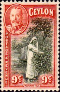 Ceylon 1935 King George V SG 371 Picking Tea Fine Mint SG 371 Scott 267 Other Quality Stamps Here