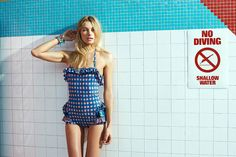 Jessica Hart Poses Poolside for Eric Guillemain in Foam's June 2013 Cover Shoot | Fashion Gone Rogue: The Latest in Editorials and Campaigns