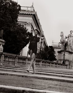 Freja Beha in action for the new Valentino ad campaign: Valentina. Shot in Rome, the birthplace of the Valentino label. http://www.valentino.com/en/collections/parfums/