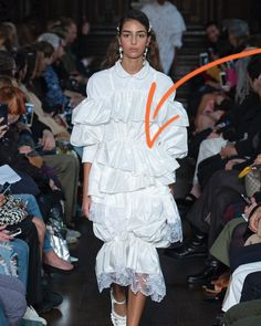 It's #FashionFactsFriday and today's term is 'ruffle', which is a decorative frill of lace or gathered ornamentation of fabric, often used to trim or embellish the wrist or neck. A strip of fabric, when gathered or pleated, will create a frill that adds a ruffled line to a garment's straight edge. Think of the lace ruffles worn by Henry VIII or the Victorians. Today, you'll find them in high fashion and haute couture.