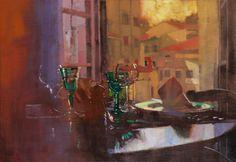 Bernard Fuchs: Tuscan Setting/トスカン セッティング/35×50cm/ジクレ