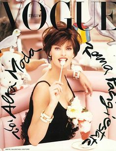 Vogue, Italy ♥ Italian women, more specifically Roma women, are born with a pair of high heels on, a cigarette in their lips and an attitude......don't forget the great eye brows too!!!!!!