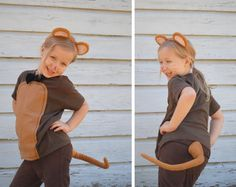 Handmade Halloween Animal Mouse Brown Rat Costume Made to Order S M L or Xl Tshirt Costume w Ears Tail Bowtie Three Blind Mice Dress U