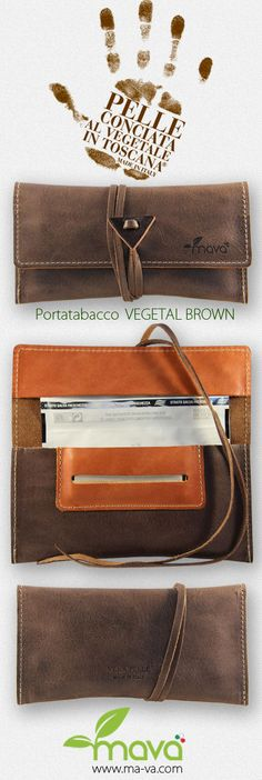 Tobacco pouch Mavà. In real natural tanned leather. Handmade and made in Italy. #tobaccopouch #rollingtobacco #madeinitaly http://www.ma-va.com/portatabacco-in-pelle/150-portatabacco-vegetal-brown.html