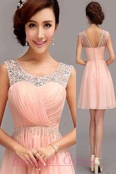 Blush Pink Simple Homecoming Dresses Sparkle Homecoming Gowns Short Prom Dress