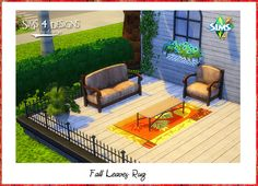 Sims 4 Designs: Fall Leaves Rug