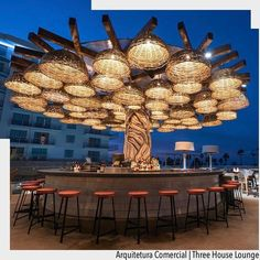Bar Design Restaurant Lounge 15 is part of Of The Worlds Best Restaurant And Bar Interior Designs - Bar Design Restaurant Lounge 15 Restaurant En Plein Air, Rooftop Restaurant, Rooftop Bar, Bamboo Restaurant, Outdoor Restaurant Patio, Rooftop Design, Rooftop Lounge, Luxury Restaurant, Patio Bar