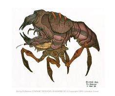fire belching Blister Bug that I designed for Starship Troopers: Roughneck Chronicles, the CG television show.