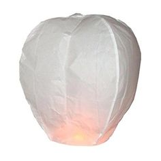 Olym StoreTM 20 Pcs Chinese Sky Fly Fire Paper Lanterns Wish Balloon Wishing Lamp for Wedding Birthday Christmas Party White * Visit the image link more details. Note:It is affiliate link to Amazon.